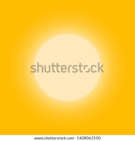 Sunny bright circle shape, sun shine brightly, flat simple logo template. Modern tourism emblem idea. Concept banner design, vector illustration on white background.