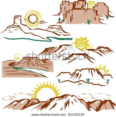 sunny canyons   mesas
