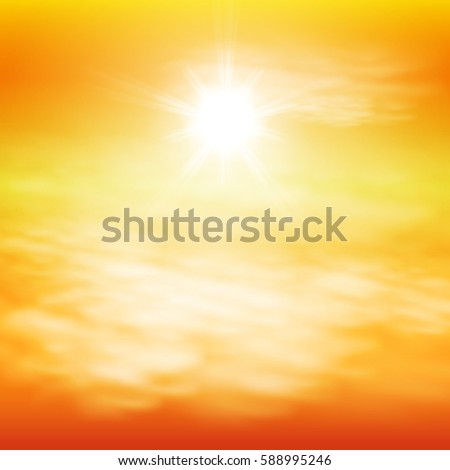 Sunny day background. Sunset time. EPS10 vector. #588995246