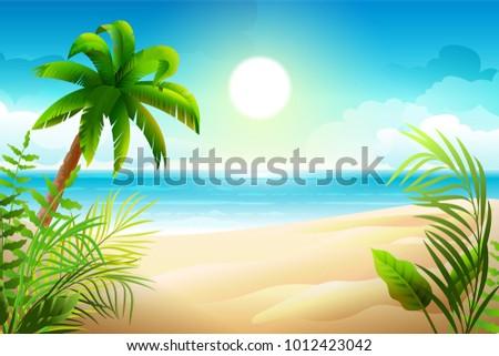 sunny day on tropical sandy