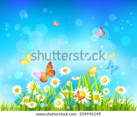 sunny day vector background
