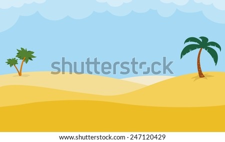sunny desert background with