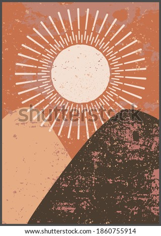 sunny desert landscape with