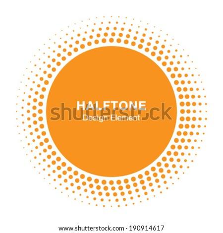 sunny halftone logo design