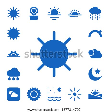 sunny icon set 17 filled sunny