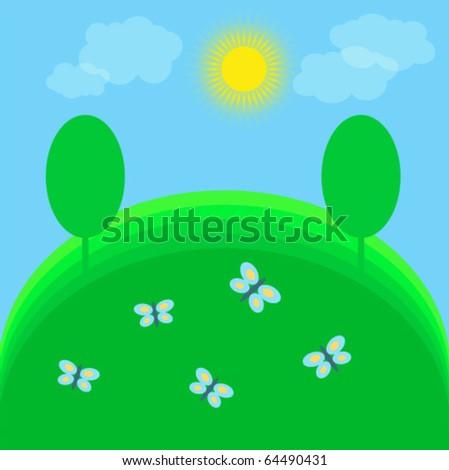 sunny illustration of summer