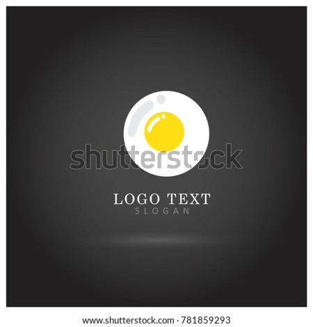 Sunny Side Up Egg Symbol & Icon Logo Vector Template