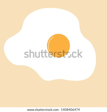 sunny side up eggs vector