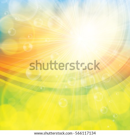 sunny spring summer abstract