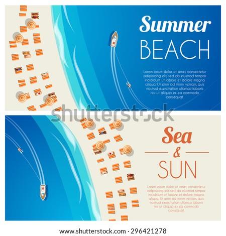 sunny summer beach horizontal
