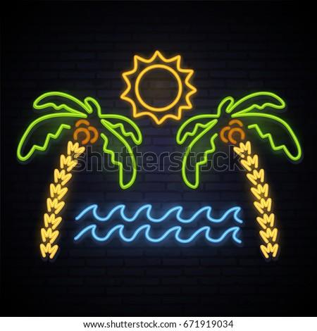 sunny summer neon pattern