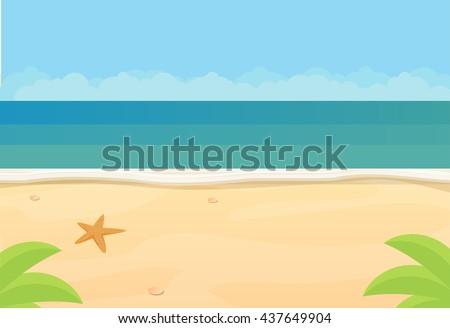 sunny tropical beach  ocean
