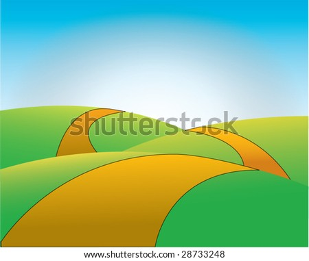 sunny valley illustration