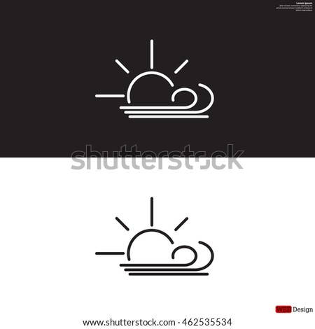sunny  windy  sky icon