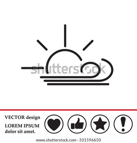 sunny  windy  sky icon vector