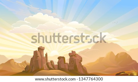 sunrise above the ancient