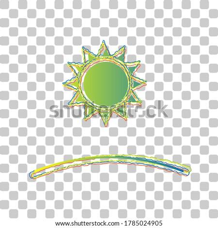 sunrise and sunset icon blue