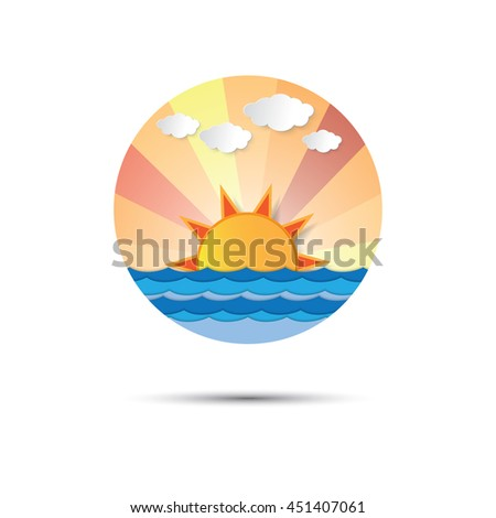sunrise and sunset icon logo