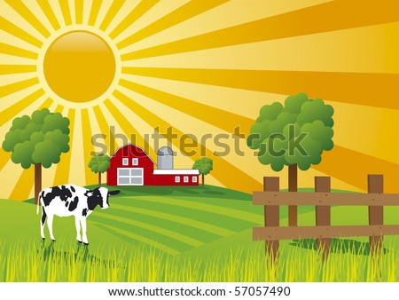 sunrise at farm