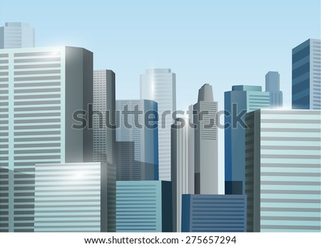 sunrise cityscape vector stock