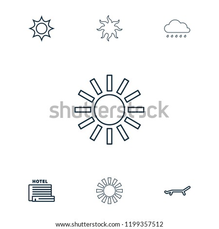 sunrise icon collection of 7
