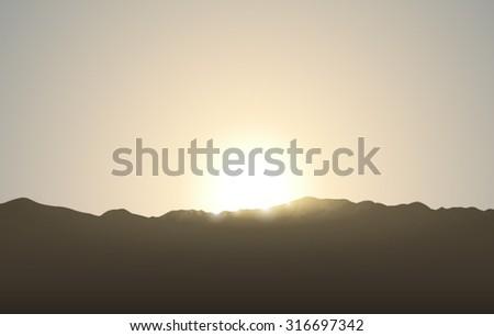sunrise illustration of
