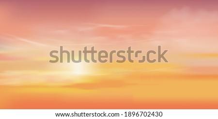 sunrise in morning with orange