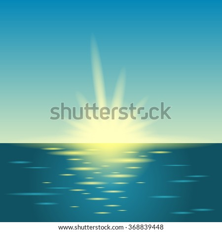 sunrise in the sea summer