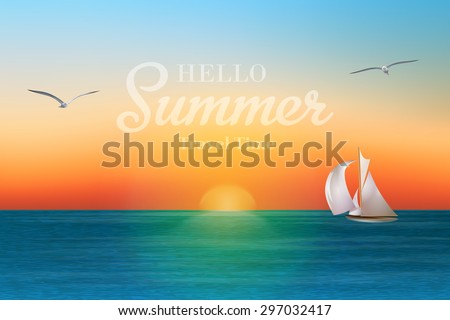 sunrise in the sea with a