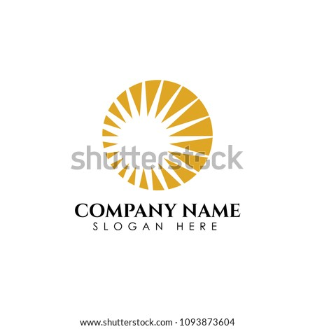 sunrise logo template vector