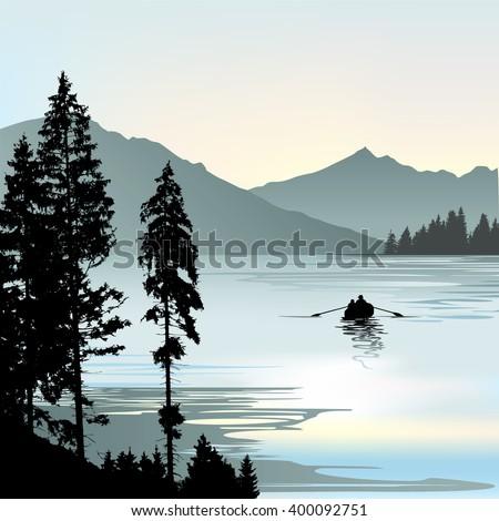 sunrise on the lake during