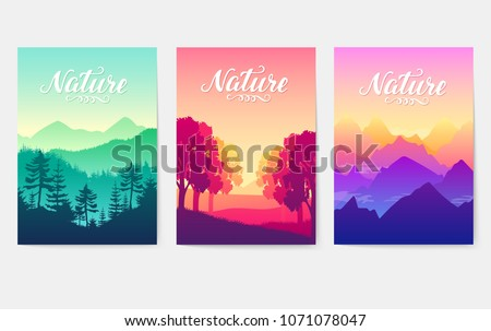 Sunrise over the beauty of nature. Mountain ranges in the solar rays of the setting sun. loveliness of the best parks on earth. Environment  natural illustration