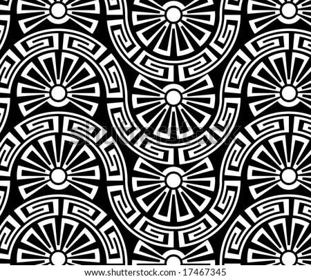 sunrise - seamless pattern - stock vector