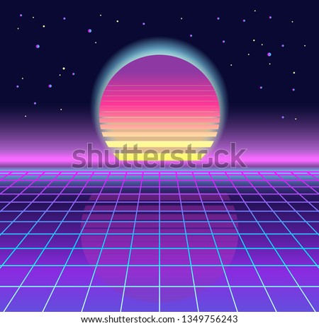Retro Vintage 80s Geometric Style Abstract Background