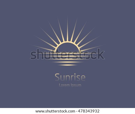 sunrise vector logo template