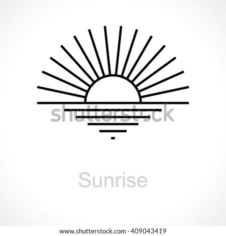 sunrise vector logos