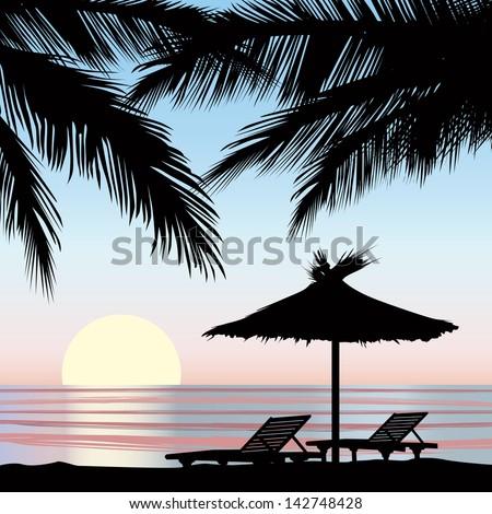 sunrise view at resort