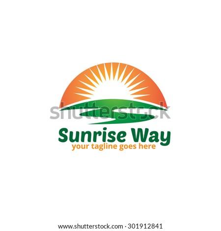 sunrise way logo template
