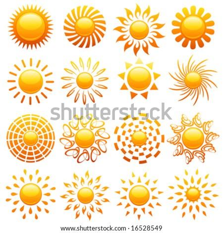 Logo Clipart - Royalty Free Vector Logos of Shining Suns by elena.