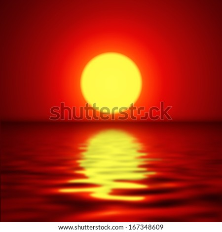 sunset background  vector