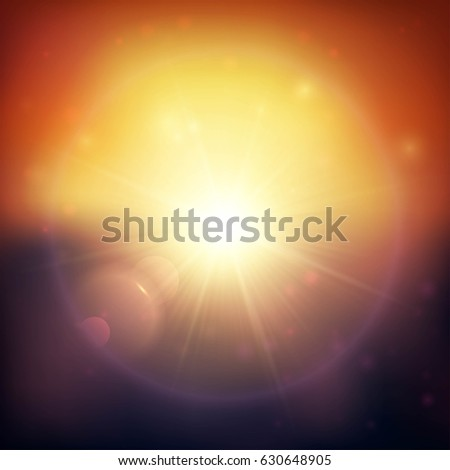 sunset blurred vector