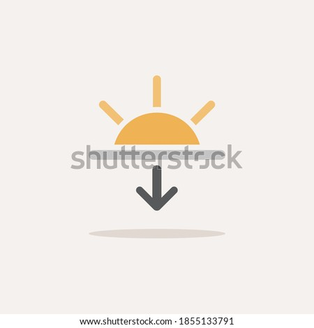 sunset color icon with shadow