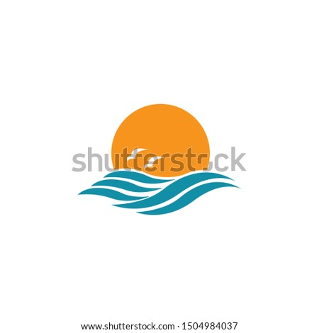 Sunset icon on a white background