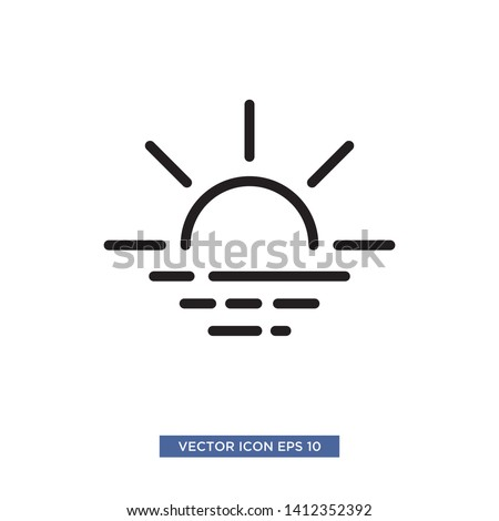 sunset icon vector illustration