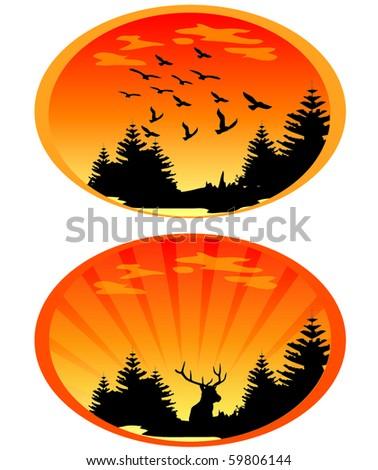 Sunset Illustrations