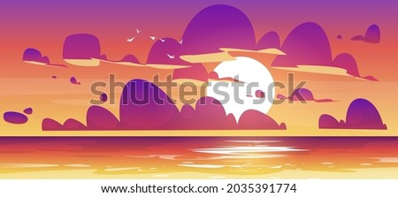 sunset in ocean  nature