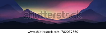 sunset or dawn over silk