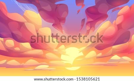 sunset or sunrise sky  nature