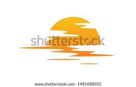 sunset over sea sun reflected