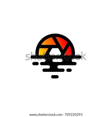 sunset photography logo